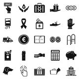 Investment icons set, simple style Royalty Free Stock Image