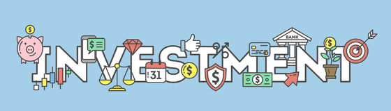 Investment icons set. Royalty Free Stock Images