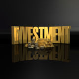 Investment. Illustration of Methapher of Gold royalty free illustration