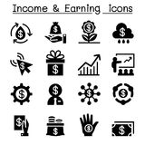 Investment, Income & earning icon set Stock Photography