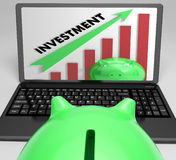Investment Increasing Graph Shows Profits And Success Stock Photo