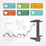 Investment infographic Stock Images