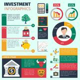 Investment Infographics Set Royalty Free Stock Photography