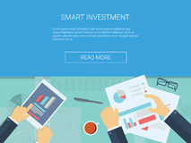 Investment infographics vector background Stock Image