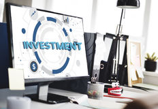 Investment Invest Finance Money Budget Concept Stock Image
