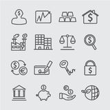 Investment line icon Stock Photography