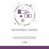 Investment Model Recoverable Lending Business Resources Web Banner With Copy Space. Vector Illustration Stock Images