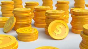 Investment, modern coins dollar Royalty Free Stock Image