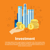 Investment Money Investor Business Web Banner Royalty Free Stock Image