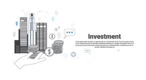 Investment Money Investor Business Web Banner. Vector Illustration Stock Image