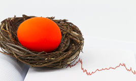 Investment Nest Egg in Danger Stock Photos