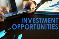 Investment opportunities concept. Royalty Free Stock Photo