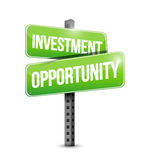 Investment opportunity road sign illustration. Over a white background Stock Image