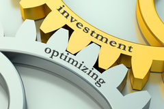 Investment and optimizing concept on the gearwheels Royalty Free Stock Photos