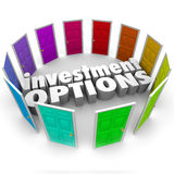 Investment Options Doors Many Paths Choosing Best Savings Plan Royalty Free Stock Images