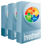 Investment package. Abstract illustration with color chart Royalty Free Stock Photography