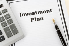 Investment Plan Royalty Free Stock Image