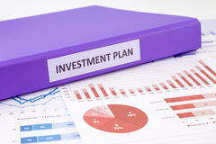 Investment plan and financial graph analysis Stock Photos
