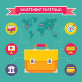 Investment Portfolio - Business Concept Illustration in Flat Design Style Stock Image