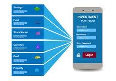 Investment portfolio Royalty Free Stock Image