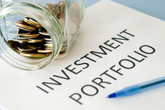 Investment portfolio Royalty Free Stock Photo