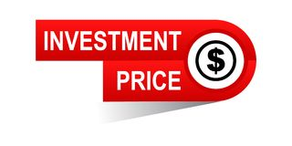 Investment price banner. Icon on isolated white background - vector illustration Royalty Free Stock Image