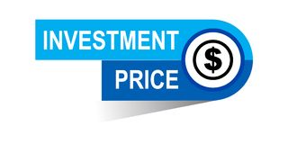 Investment price banner. Icon on isolated white background - vector illustration Stock Images