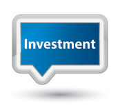 Investment prime blue banner button. Investment isolated on prime blue banner button abstract illustration Stock Image
