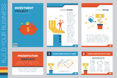 Investment project book cover and presentation template Stock Image