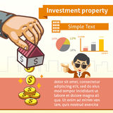 Investment Property Graphic Template with Illustration Royalty Free Stock Image