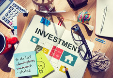 Investment Property House Chart Concept Royalty Free Stock Images