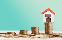 Investment. Property landlord mortgage refinance agent asset royalty free stock photography