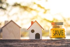 Investment in real estate finance. Investment in real estate finance, Concept money for the future Royalty Free Stock Images