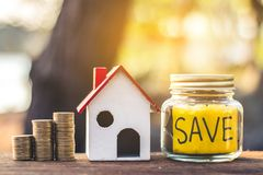 Investment in real estate finance. Investment in real estate finance, Concept money for the future Stock Image