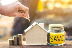 Investment in real estate finance. Investment in real estate finance, Concept money for the future Royalty Free Stock Photos
