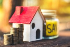 Investment in real estate finance. Investment in real estate finance, Concept money for the future Royalty Free Stock Photo