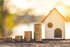 Investment in real estate finance. Investment in real estate finance, Concept money for the future Royalty Free Stock Photography