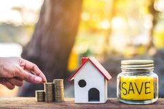 Investment in real estate finance. Investment in real estate finance, Concept money for the future Stock Photos