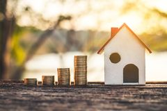 Investment in real estate finance. Investment in real estate finance, Concept money for the future Stock Photography
