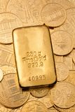 Investment in real gold than gold bullion. And gold coins Stock Photography