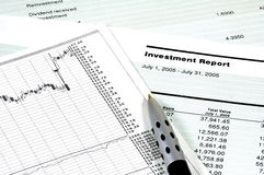 Investment Report Royalty Free Stock Photos