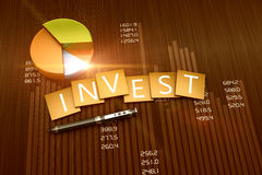 Investment report. Financial graph of investment and business development Royalty Free Stock Images