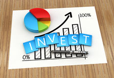 Investment report. Financial graph of investment and business development Stock Photography