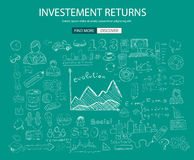 Investment Returns  concept with Doodle design style Stock Photos