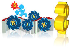 Investment risk. Business concept Three dimension style and high quality Royalty Free Stock Photography
