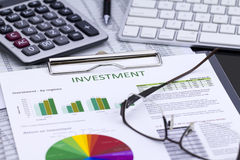 Investment Risk Management Royalty Free Stock Images