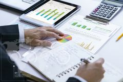 Investment risk management and returning on investment analysis Royalty Free Stock Photos