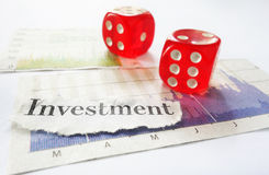 Investment risk Stock Image