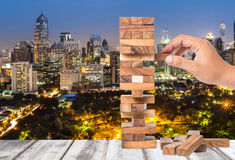 Investment risk and uncertainty in the real estate housing marke Royalty Free Stock Image