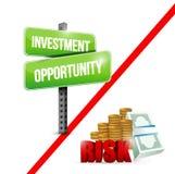 Investment risks illustration design Royalty Free Stock Image